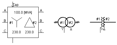 3-Phase 2-Winding Transformer