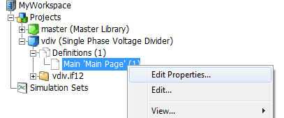 Editing Definition Settings